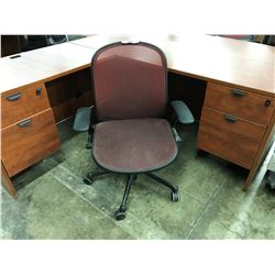 RED KNOLL MESH BACK FULLY ADJUSTABLE TASK CHAIR
