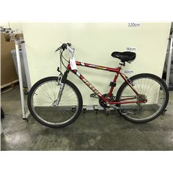 RED DUNLOP ENDURE SPORT 24 SPEED FRONT SUSPENSION MOUNTAIN BIKE