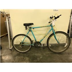 TURQUOISE HUFFY MOUNT ECHO 18 SPEED ROAD BIKE