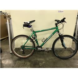 GREEN SPECIALIZED 21 SPEED FRONT SUSPENSION MOUNTAIN BIKE