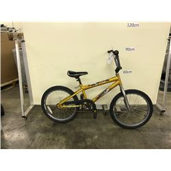 GOLD HUFFY SINGLE SPEED KIDS BIKE