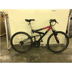 BLACK TRIBAL STRIKER 21 SPEED FULL SUSPENSION  MOUNTAIN BIKE