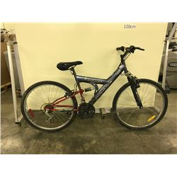 GREY ARASHI BLADE 18 SPEED FULL SUSPENSION MOUNTAIN BIKE