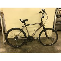 BROWN NO NAME 27 SPEED FRONT SUSPENSION MOUNTAIN BIKE