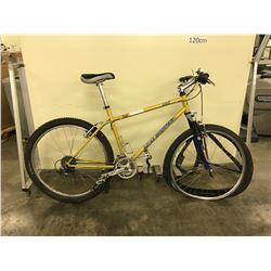 GOLD ROCKY MOUNTAIN 24 SPEED FRONT SUSPENSION MOUNTAIN BIKE