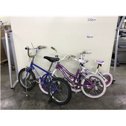 3 ASSORTED KIDS BIKES