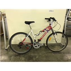 RED SPORTEK 18 SPEED FRONT SUSPENSION MOUNTAIN BIKE