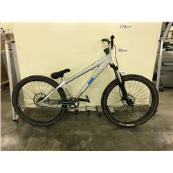 SILVER NORCO  SINGLE SPEED FRONT SUSPENSION DISC BRAKES MOUNTAIN BIKE