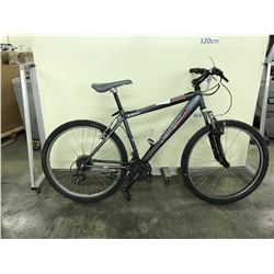 GREY SCHWINN SUSPEND 18 SPEED FRONT SUSPENSION MOUNTAIN BIKE