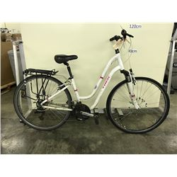 WHITE TREK  LADIES 21 SPEED FRONT SUSPENSION CRUISER BIKE