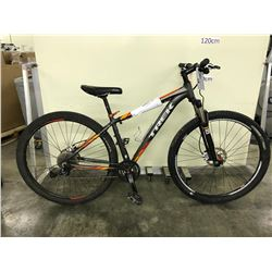 GREY AND ORANGE TREK 24 SPEED FRONT SUSPENSION MOUNTAIN BIKE