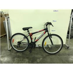 BLACK SUPERCYCLE SC1800 21 SPEED MOUNTAIN BIKE