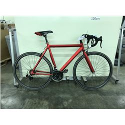 RED NO NAME 21 SPEED ROAD BIKE