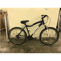 BLUE SCHWINN CONVERSION 21 SPEED FRONT SUSPENSION MOUNTAIN BIKE