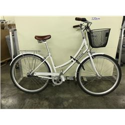WHITE LOCHSIDE SINGLE SPEED CRUISER BIKE