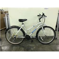 WHITE NISHIKI MOUNTAIN SERIES LADIES 21 SPEED MOUNTAIN BIKE