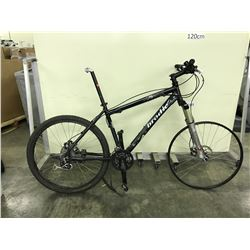 BLACK BRODIE 21 SPEED FRONT SUSPENSION MOUNTAIN BIKE