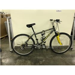 YELLOW AND BLACK NORCO REACTOR 21 SPEED FRONT SUSPENSION MOUNTAIN BIKE