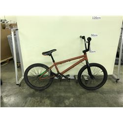 BROWN SINGLE SPEED STUNT BIKE