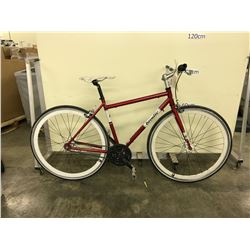 RED BRODIE ROAM 3 SPEED ROAD BIKE