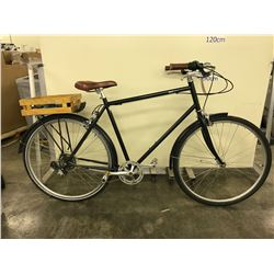 BLACK BKC BEDFORD 7 SPEED CRUISER BIKE