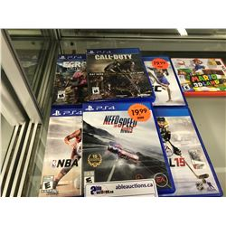 MISC LOT OF PS4 VIDEO GAMES