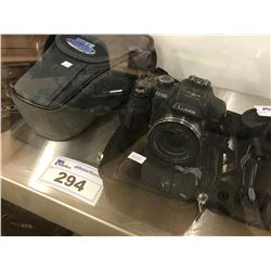 PANASONIC DMC-FZ100 DIGITAL CAMERA WITH LENS AND BAG