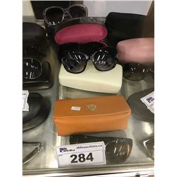 LOT OF 4 MISC. SUNGLASSES SOME DESIGNER  (AUTHENTICITY NOT VERIFIED)