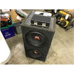 ALPINE CAR AMP AND DUAL 10'' SUB