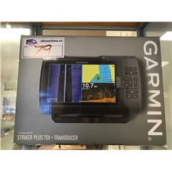 "GARMIN STRIKER PLUS 7SV TRANSDUCER 7"" FISH FINDER WITH GPS"