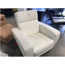 HILKER 1888 WHITE LEATHER RECLINING CHAIR (MADE IN GERMANY)