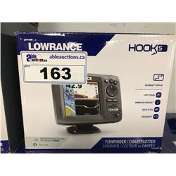 LOWRANCE HOOK 5 FISH FINDER/CHART PLOTTER