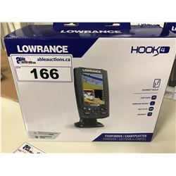 LOWRANCE HOOK 4 FISH FINDER/CHART PLOTTER