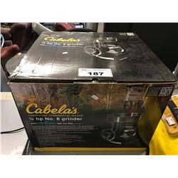 CABELAS 1/2 HP CARNIVORE COMMERCIAL GRADE GRINDER