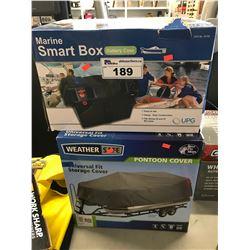 MARINE SMART BOX BATTERY CASE, WEATHER SAFE PONTOON COVER