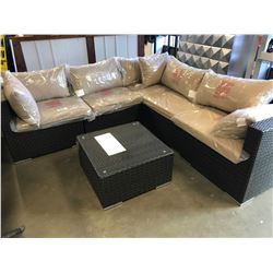 NEW MODULAR 6 PIECE PATIO FLARE SECTIONAL SOFA SET