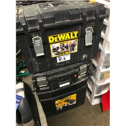2 DEWALT TOOLBOXES (ONE WITH DAMAGE) & CONTENTS