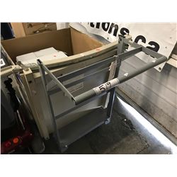 ROLLING COMMERCIAL METAL CART