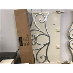 CREAM/SILVER KING BED FRAME (MAY CONTAIN COSMETIC OR FREIGHT DAMAGE)