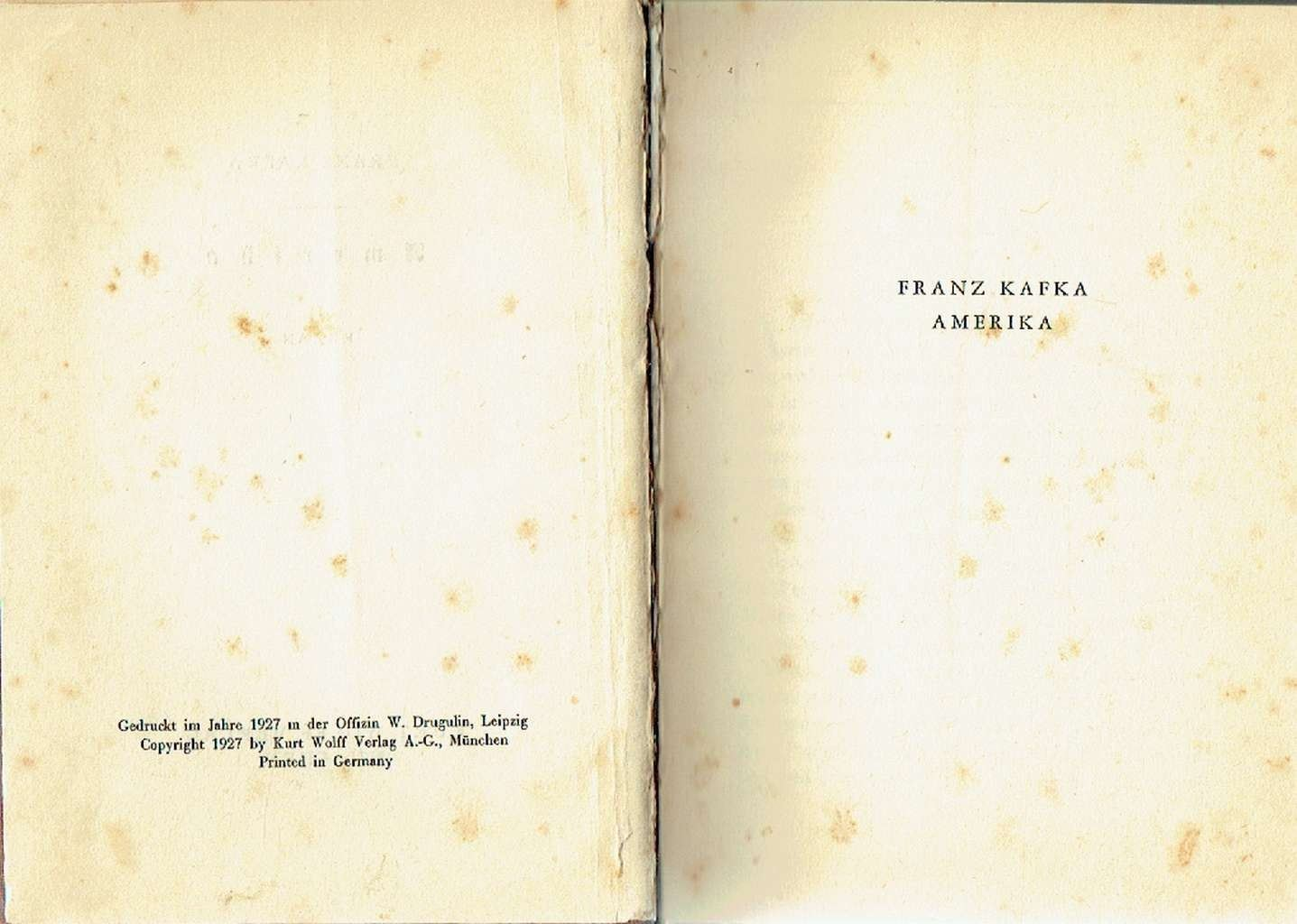 Franz kafka amerika online dating