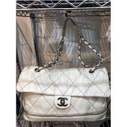 Chanel Creme Expandable Handbag
