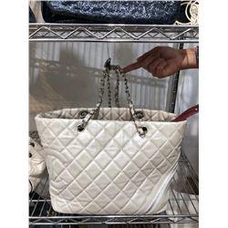 Chanel Creme Tote Handbag