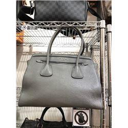 Prada Grey Deer Skin Handbag