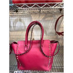 Valentino Rhinestone in Hot Pink Handbag