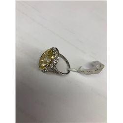 Art Deco 10.00ct Diamond Ring in Platinum Fancy Yellow
