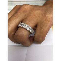 Designer 11.50ct Diamond Eternity Ring Band in 18K Gold