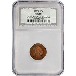 1894 Indian 1¢. Proof-Details NCS