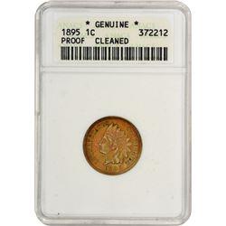 1895 Indian 1¢. Proof-Genuine ANACS.