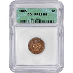 1895 Indian 1¢. Proof-62 RB ICG.