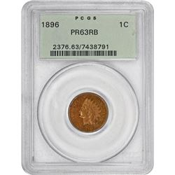 1896 Indian 1¢. Proof-63 RB PCGS. OGH.